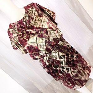 Jessica Simpson Abstract Blouson Dress